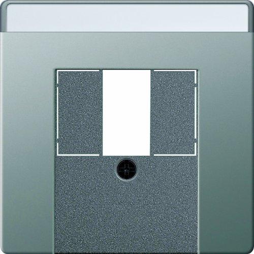 Gira 027620 afdekkingsveld TAE met stereo en USB Gira E22, roestvrij staal