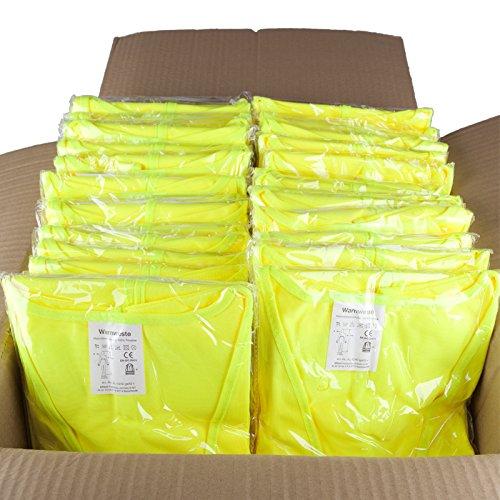 50er-Set Warnweste gelb L-XL, Neueste Norm EN 20471