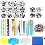 Juego de herramientas de arte de 35 piezas Mandala Dotting Tools, para pintar rocas Mandala Painting Dotting Sotcil Dot Mandala Kit Nail Art