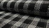 Minerva Crafts Tweed-Beschichtungsstoff, Schwarz/Weiß,