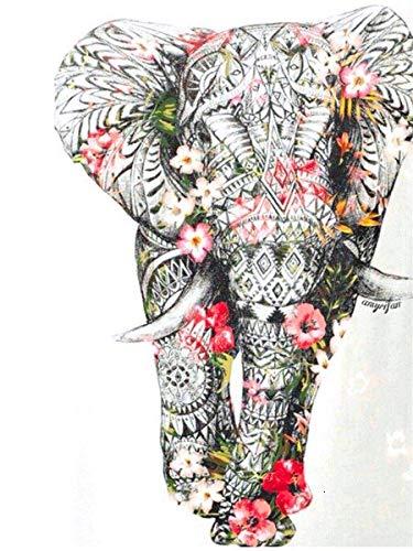 N / A 5D Diamond Painting Full Display Drill Animal Diamond Embroidery Elephant Mosaic Rhinestones Decorations For Living Room 25x30cm