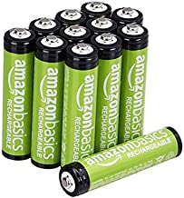 Amazon Basics AAA Rechargeable Batteries (800 mAh), Pre-charged - Pack of 12