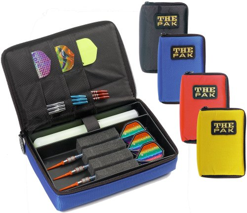 GamePoint The PAK strapazierfähige rote Nylon-Tasche für 1-2 Sets montierter Darts und zusätzlichen Fächern für Flys und Ersatzschäfte. 802303