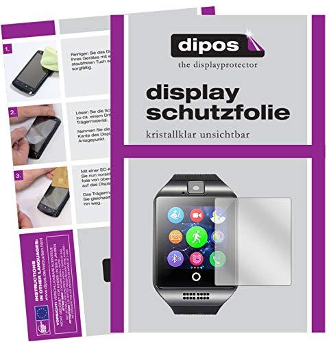 dipos I 6X Schutzfolie klar kompatibel mit Interactive SmartWatch Q18 Folie Displayschutzfolie