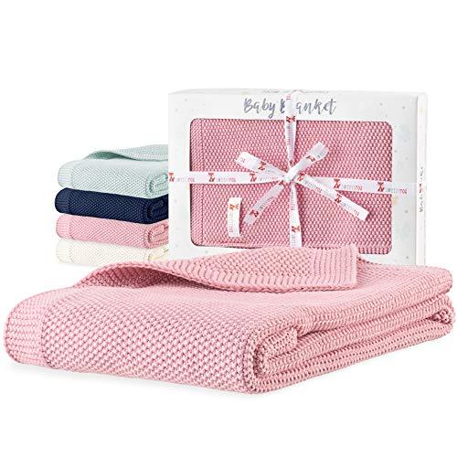 Sweety Fox - Babydecke 80 x 100 cm - 100% Biobaumwolle Zertifiziert GOTS und OEKO-TEX® - Erhältlich in 4 Farben