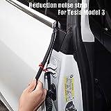 NOBRAND For Tesla Model 3 2017-2020 Tira de reducción de Ruido del Coche 4 Puertas de Ruido del Motor Tira + Delantera + Trasera comino Tapa del Maletero 6PCS / Set