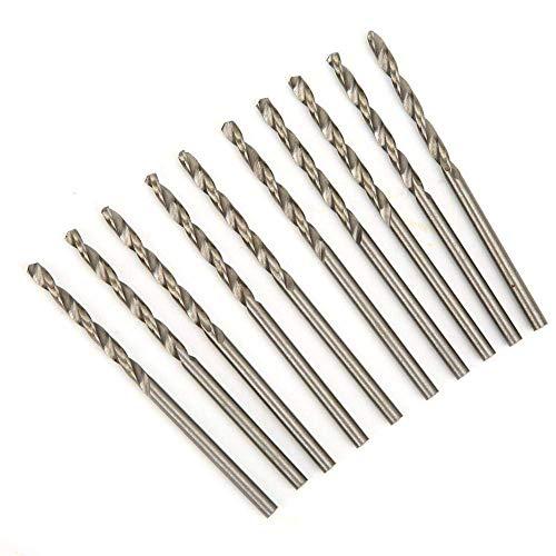10 cajas de brocas retorcidas, broca HSS, vástago recto de acero de alta velocidad ((acero de alta velocidad 2.8, 10 piezas/caja 4241))