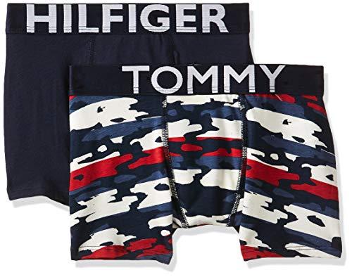 Tommy Hilfiger Jungen 2P TRUNK CAMO STRIPE Boxershorts, Mehrfarbig (MULTI 034), (Herstellergröße:14-16) (2er Pack)