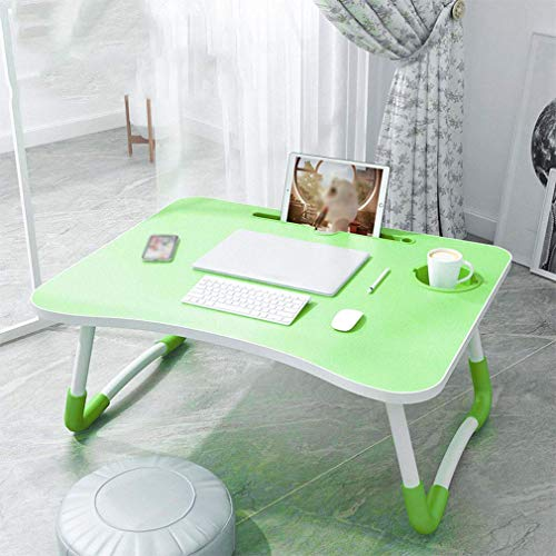 FXPCQC Folding Table Laptop Table, Lazy Sofa Bed Simple Dining Table, Mini Kids Desk, Home/Office/Travel Portable Picnic Table, Camping Table