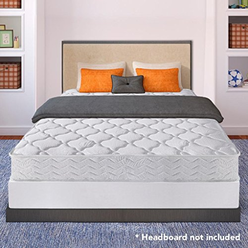 Best Price Mattress 8' Pocket Coil Spring Mattress and 7.5' New Steel Box Spring/Mattress Foundation Set - King