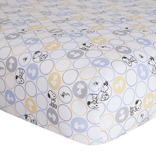 Lambs & Ivy My Little Snoopy Crib Sheet by Lambs & Iv