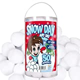 50 Pack Indoor Fake Snowballs for Kids - Snow Fight Snowballs for Kids Indoor - Outdoor Boys & Girls Christmas Present Ideas Family Fun