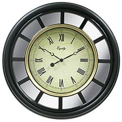 Equity by La Crosse 82009  22 Inch Black Frame Mirror Clock