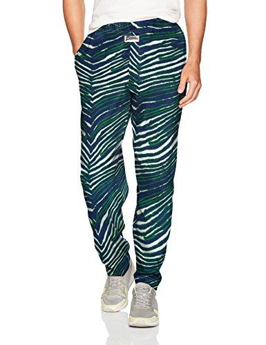 Zubaz Herren Zebra Print Leggings, New Blue/Green, Small