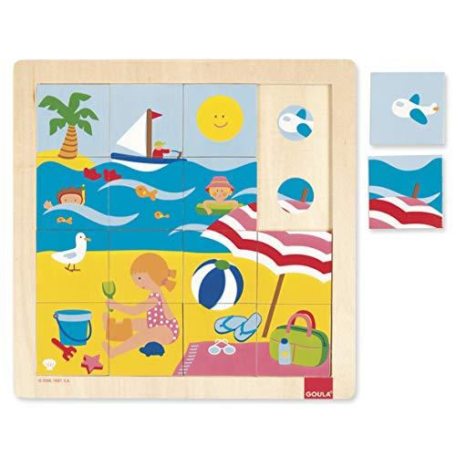 Goula Summer Puzzle Encajes Madera Verano, Multicolor (Diset