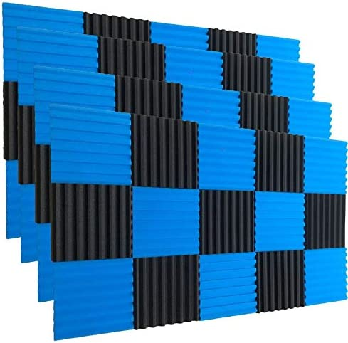 50pack, Black 50 Pack Ice Black Acoustic Panels Studio Foam Wedges 1 X 12 X 12