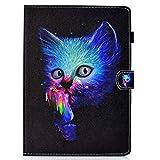 Coopay Pochette Noir Coque Housse pour Tablette Samsung Galaxy Tab 4 10.1 2014 SM-T530/T535 Chat...