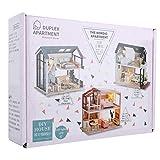 Asixxsix Casa de muñecas en Miniatura, casa de muñecas de Madera DIY, Tela de Madera Realista DIY inteligentemente diseñada para el hogar de Regalo Coleccionable para(QL-003 Warm Heart Life)