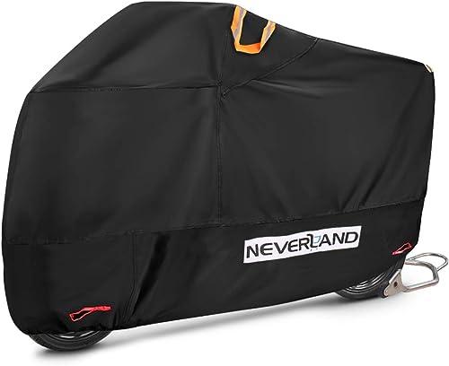 NEVERLAND Housse de Protection pour Moto Bâche Scooter Taille XXL en Tissu 210D Oxfords Etanche Durable