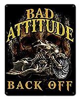 なまけ者雑貨屋 Bad Attitude Bad Ass Bagger ブリキ 看板 レトロ アメリカン 雑貨 ヴィンテージ風