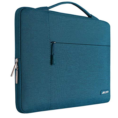 MOSISO Laptop Aktentasche Kompatibel mit 13-13,3 Zoll MacBook Air, MacBook Pro, Notebook Computer, Polyester Multifunktion Sleeve Hülle, Deep Teal