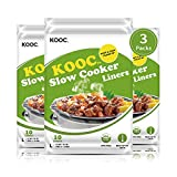 [NEW PACK] KOOC Premium Disposable Slow Cooker Liners and Cooking Bags, Large Size Fits 4QT To 8.5 QT Crock Pot, 13'x 21', 3 Packs (30 Counts), Equipped with Fresh Locking Seal Design, Suitable for Oval & Round Pot, BPA Free