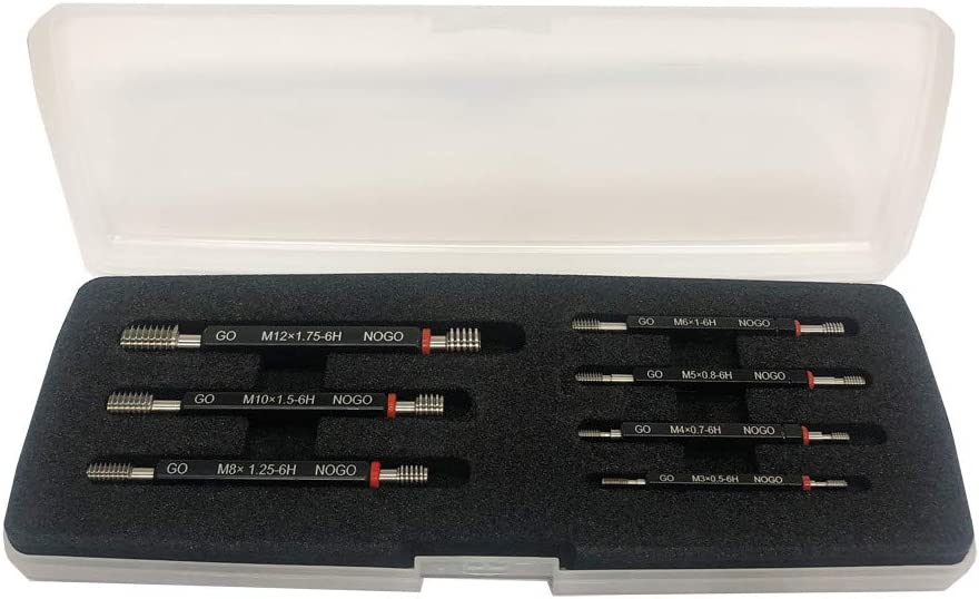 PROLINEMAX 7 PC H6 Metric Thread Plug N Award-winning store New Shipping Free GO Set End Double Gage