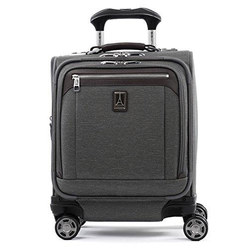 Travelpro Platinum Elite-Underseat Spinner Tote Bag with USB Port, Vintage Grey, 16-Inch