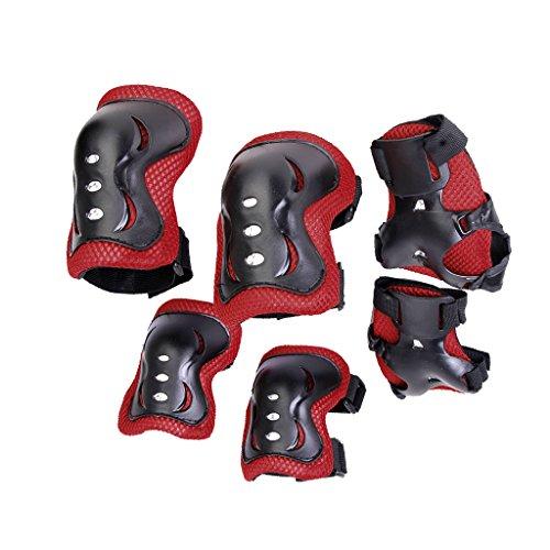 Baoblaze Kinder Knieschoner Ellbogenschoner und Handgelenkstütze Protektorenset Schutz Schoner Set für Rollschuhe Inline-Skates, Rollerskate Skateboard