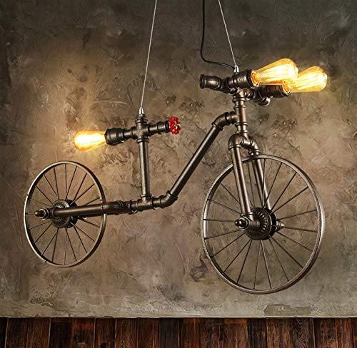 U/D Kroonluchters E27 Hierro Retro Cafe lámpara de Techo Dormitorio Restaurante Bar Industrial de Viento Creativo Individual de Bicicletas Luces Pendientes