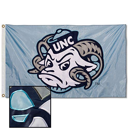College Flags & Banners Co. UNC Tar Heels Embroidered and Stitched Nylon Flag