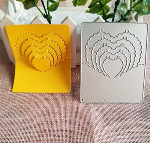 RKZM Liefde stempel snijden sjabloon puzzel handgemaakte DIY fotolijst maken koolstofstaal mes schimmel 8,5 x 7 cm