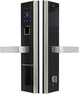 TINYUET Keyless Entry Door Lock with Handle Passcode Door Lock Door Lock Fingerprint Biometric Door Lock with Fingerprint