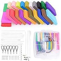 Arcilla Polimérica 24 colores, Segura y No Tóxica Horno Bake Modelado Craft Set regalo ideal para niños