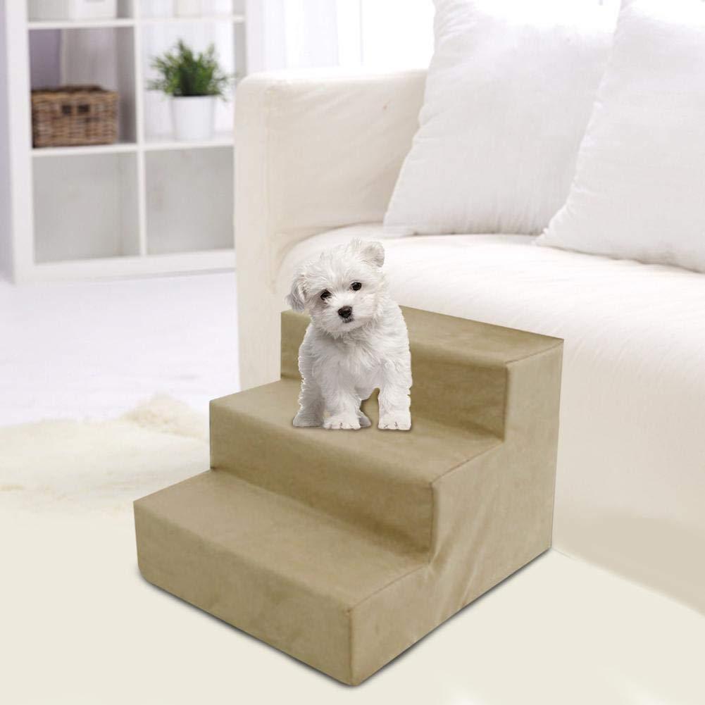 Golden.Y Escaleras de Perro Cama Alta, escaleras para Mascotas de 3 Pasos para Perros pequeños, Escalera de rampa en casa portátil: Amazon.es: Productos para mascotas