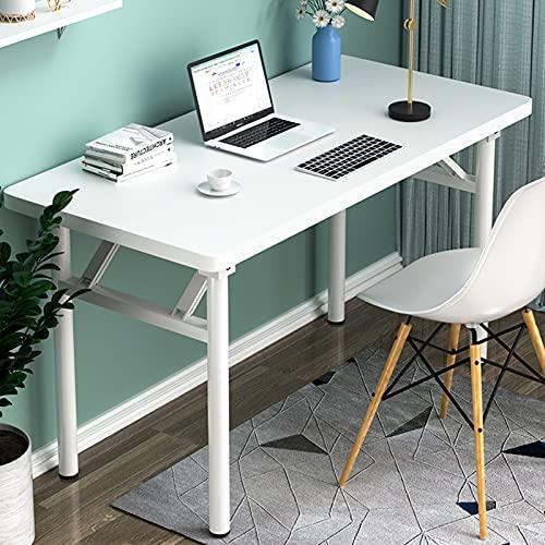 YNN Mesa De Comedor Portátil Rectangular Plegable De Escritorio De Escritorio Rectangular Blanco para Pequeño Espacio, Sin Montaje(Size:100x60x75cm)