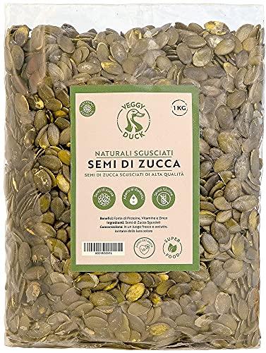 Veggy Duck - Semi di Zucca Sgusciati Naturali (1Kg) - Senza Sale   Senza Glutine   Ricchi di Fosforo, Magnesio e Ferro