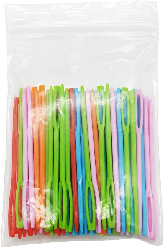 100 Pieces Colorful Plastic Sewing Large Length Ey Fixed price for sale Inventory cleanup selling sale Needles 7CM