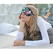 O'Bester Natural Silk Sleep Mask, Comfortable and Super Soft Eye Mask with Adjustable Strap, Ultimate Sleeping Aid, Blindfold, Blocks Light (Orchid)