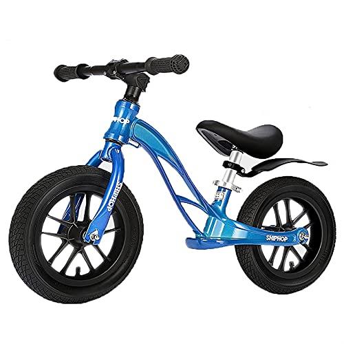 ELXSZJ XTZJ Bicicleta de Equilibrio - Bicicleta de Entrenamiento para niños pequeños Durante 18 Meses, 2, 3, 4 y 5 años de Edad, niños - 12'Push Push Bike No Pedal Bicycle para niños