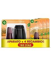 Air Wick Essential Mist - Aparato y recambios de ambientador difusor, esencia para casa con aroma a Explosión Cítrica - pack de 1 aparato y 4 recambios