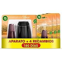Air Wick Essential Mist - Aparato y Recambios de ambientador difusor, esencia para casa con aroma a Explosión Cítrica - pack 1 aparato y 4 recambios