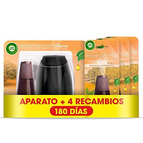 Air Wick Essential Mist - Aparato y recambios de ambientador difusor aceites esenciales para casa con aroma a Explosión...