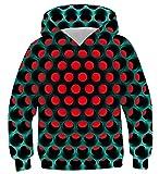 Photo de NEWISTAR Pull à Capuche Enfant 3D Imprimer Coloré animé Garçons Filles Casual Sweat-Shirts,A-hole,XL(13-16 ans ,Buste:104-124CM)