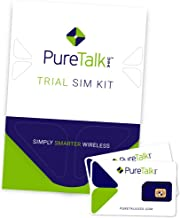 PureTalk Trial SIM Kit | Universal SIM for Unlocked GSM Phones - Comes with 100 Min/100 Text/100MB Data to Verify Compatibility with Our Service