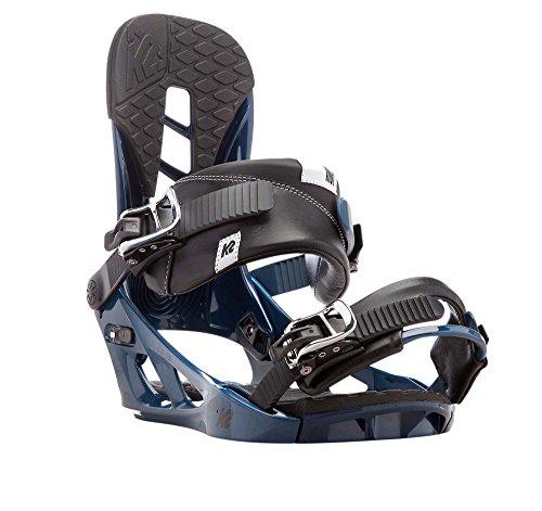 K2Indy–Fijaciones para tabla de snowboard de los hombres, azul, medium