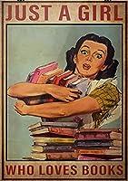 金属スズの看板はただの女の子の本が好きな壁の芸術印刷漫威海報スズのマーク彼らの金属スズのラベルの壁の装飾レストラン家庭スズの看板のカフェ8インチx12インチ