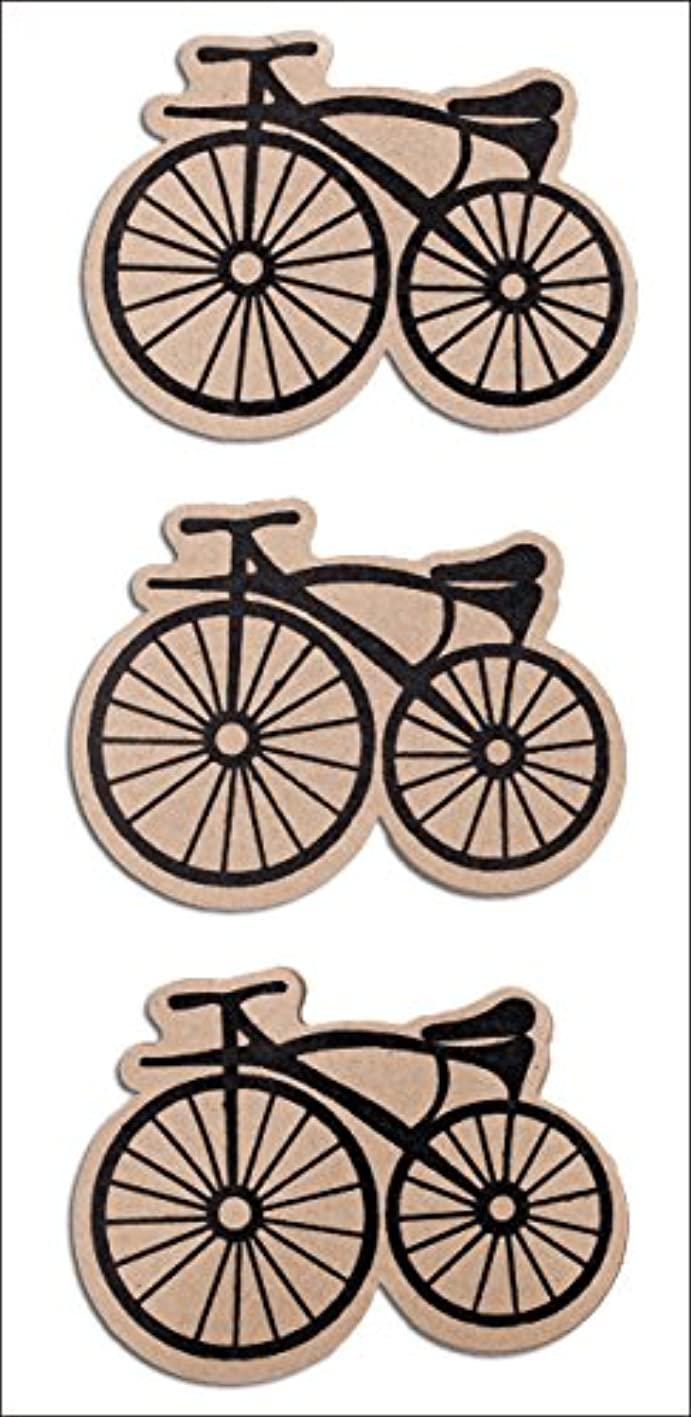 R?ssler 9007-138 3-D Bicycle On Kraft Card Sticker - Black chlxdpgldtl966