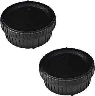 (2 Pack) VKO Body Cap & Rear Lens Cap Replacement for Nikon D5600 D5500 D500 D5 D750 D700 D850 D7500 D7200 D7100 D610 D3500 D3400 D3300 D3200 D5200 D5300 Camera Body & F Mount Lens Replaces LF-4 BF-1B