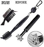 KINOEE golf flute sharpening tool, golf club groove sharpener and telescopic golf club